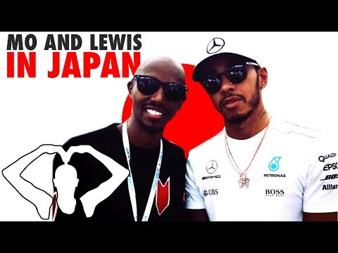 Mo Farah at the Japanese Grand Prix with Team Lewis Hamilton!