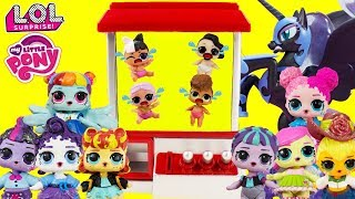 LOL MANE 8 Rescues LOL Surprise Confetti Pop Little Sisters CLAW MACHINE GAME Toy Surprises