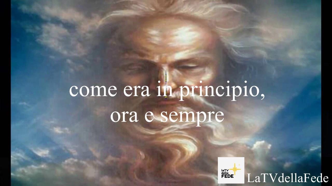 Gloria al Padre recitato: preghiera con testo in Italiano - YouTube
