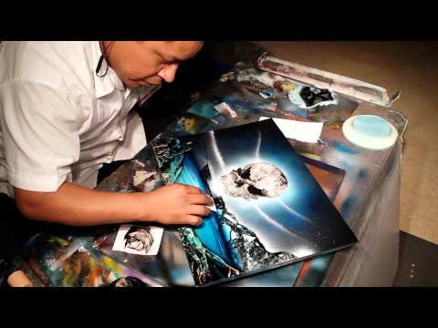 Pirate Ship spray paint art - Популярные видеоролики!