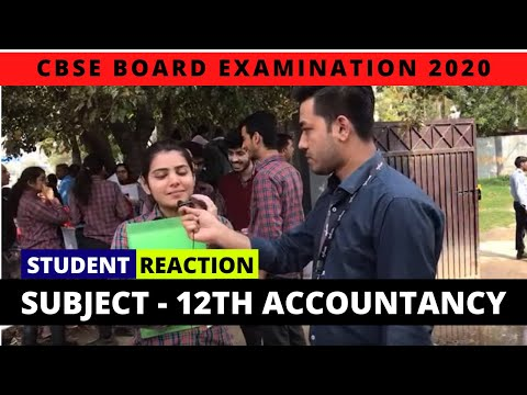 CBSE Board Exam 2020 | Class 12th Accountancy | Live Student Reactions
