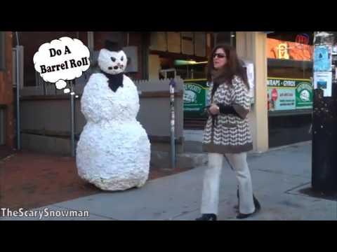 vetem per te qeshur 2018-Scary Snowman Pranks