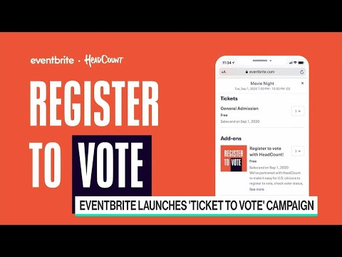 Eventbrite Helps Users Register To Vote