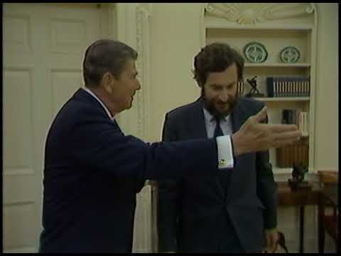 President Reagan Photo Opportunities in the Blue Room and Oval Office on April 25, 1985