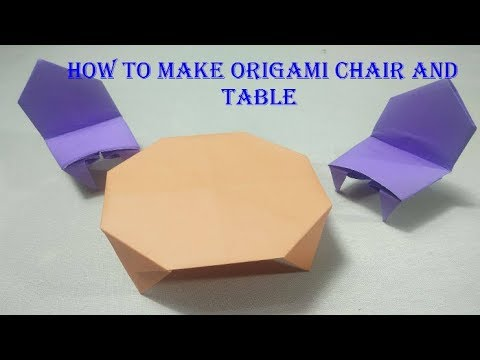How to make origami chair and table   Kids paper craft ...