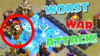 Clash of Clans- WORST WAR ATTACK EVER   All Miner Raid Fail