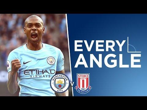FERNANDINHO STRIKE! | Every Angle: Fernandinho | City 7-2 Stoke