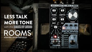 Death By Audio ROOMS Stereo Reverberator Demo (Stereo and Mono examples - Use Headphones)