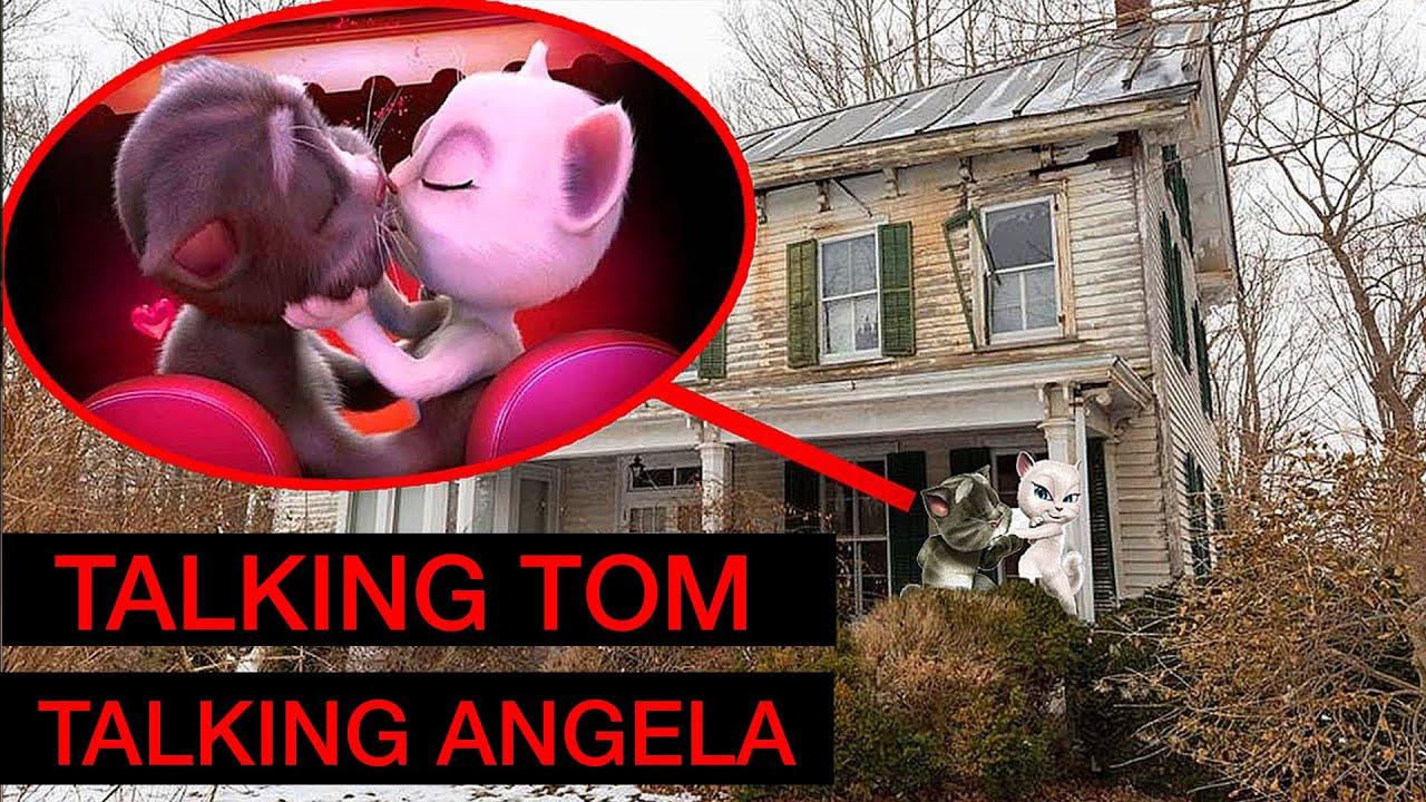 ACHEI O TALKING TOM E A TALKING ANGELA COM A CAMERA DO DRONE! *vi tudo*