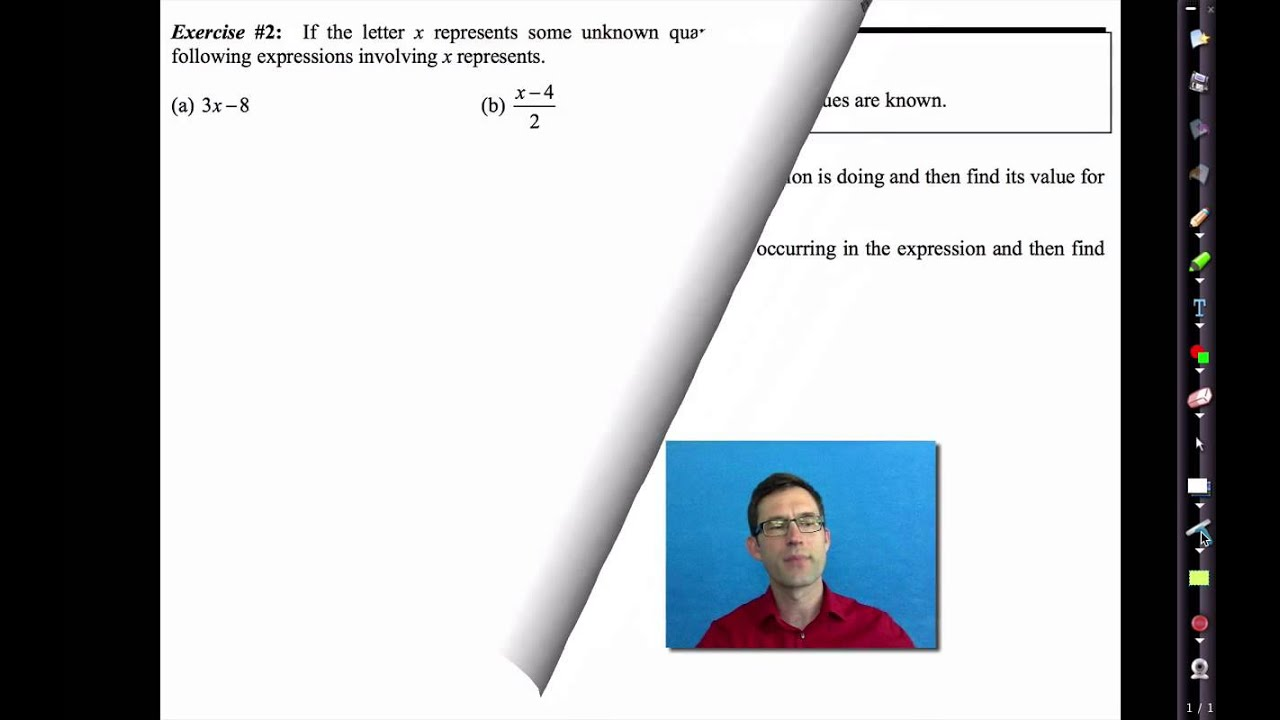Common Core Algebra I Unit #1 Lesson #2 Variables and Expressions