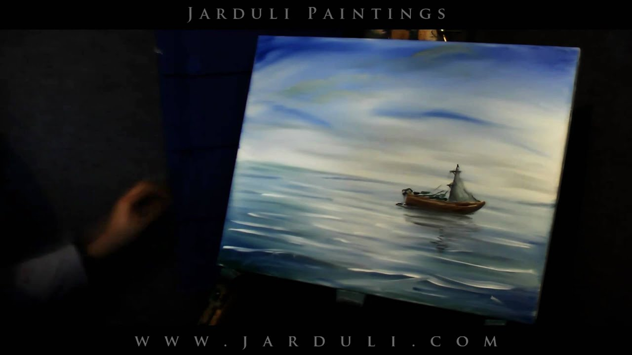 65 Painting A Boat On A Sea Youtube