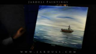65. Painting a boat on a sea
