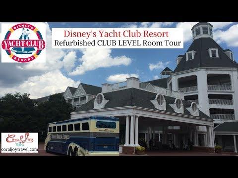 DISNEY'S Yacht Club Resort Tour | CLUB LEVEL ROOM Tour