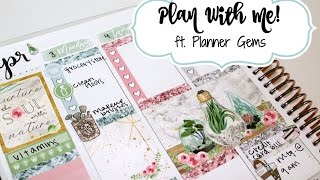 "Plan With Me! ft  Planner Gems ""Nature"""