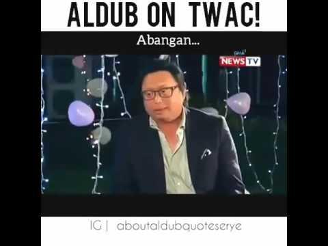 ALDUB On TWAC with Arnold Clavio!