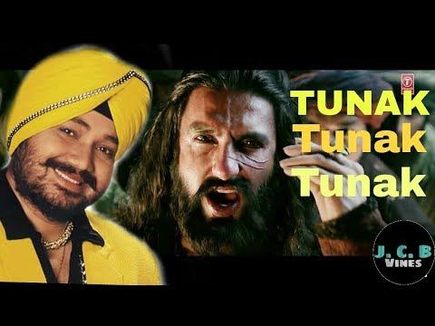 Ranveer Singh On Tunak Tunak Tun|| Padmavati || Khalibali Song|| Parody ||Daler Mehndi