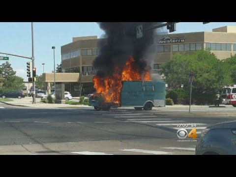Food Truck Burns In Middle Of Intersection