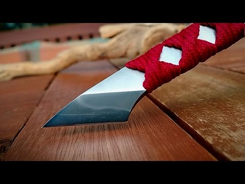 Making a japanese kiridashi (+ hamon) with COMMON HAND TOOLS ONLY - Knife making Part 2