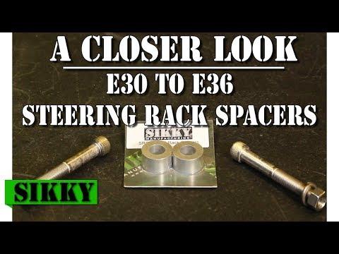 BMW E36 E46 Z3 Steering Rack Lock Spacers