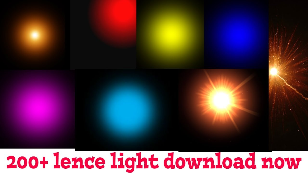 Download 200+ lense light png effects zip file 2018