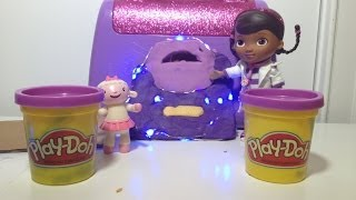 DOC MCSTUFFINS Disney Junior Doc McStuffins Play Doh Video Tutorial  a Light Up Doctor Bag!