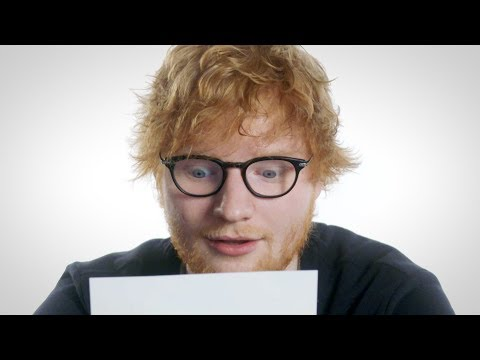 "Ed Sheeran Plays ""Love Song Lyric or Pizza Review?"" // Omaze"