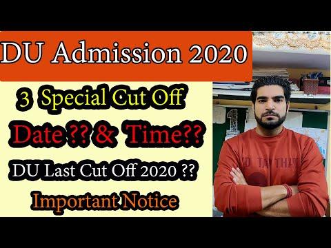 DU 3 Special Cut off   Apply Date & Time   Admission Process   DU last Cut off   Delhi University  