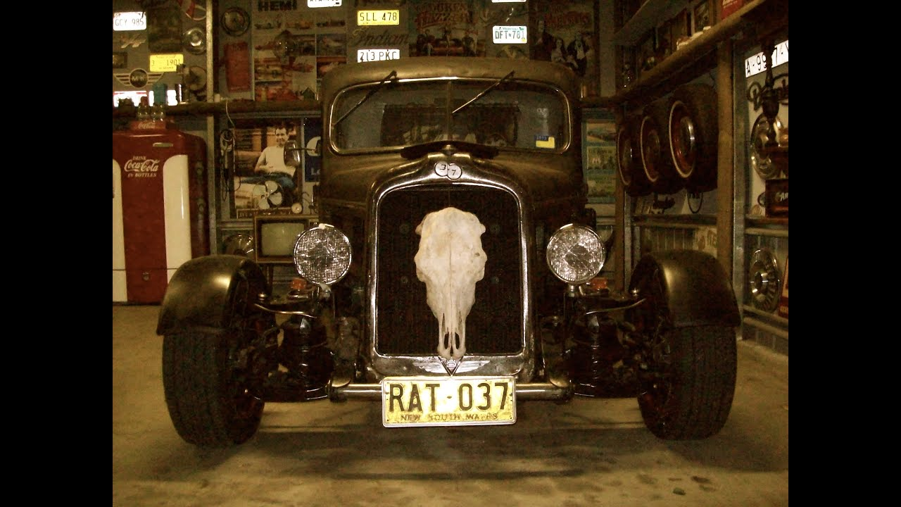 Man Cave Shed Hot Rod Rat Rod Muscle Car Garage Youtube
