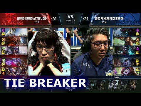 Hong Kong Attitude vs 1907 Fenerbahçe | Tie-Breaker of S7 LoL Worlds 2017 Play-in Stage | HKA vs FB