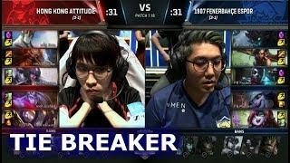 Hong Kong Attitude vs 1907 Fenerbahçe | Tie-Breaker of S7 LoL Worlds 2017 Play-in Stage | HKA vs FB