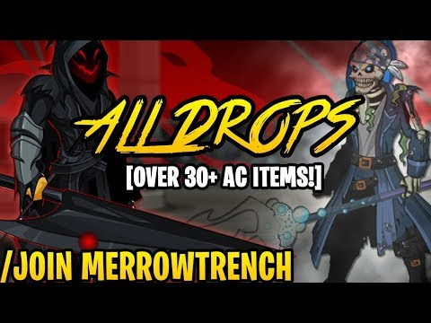 AQW - /JOIN MERROWTRENCH (ALL Cecaelia Boss Drops & ALL Monster Drops) (AC-TAGGED) + ITEM Showcase!