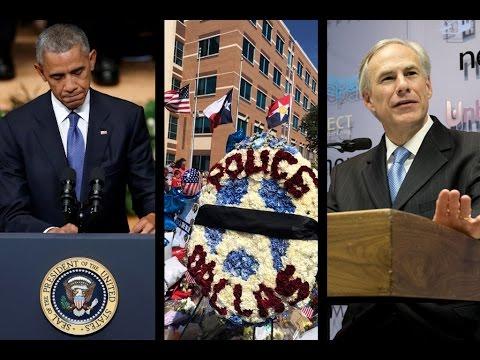 Dallas Cops Memorialized, Injury Sidelines Abbott