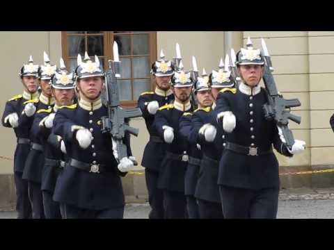 Drottningholm Palace, Stockholm,  Changing of the Royal Guards