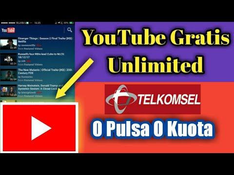 Wow Youtube Gratis Unlimited Telkomsel 0 Pulsa 0 Kuota Youtube