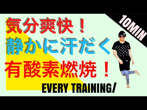 【10MIN 爆燃焼】気分爽快!静かに自宅ですご汗有酸素で脂肪燃焼&体脂肪DOWN! FULLBODY WORKOUT TO BURN FAT FOR 10MIN AT HOME!