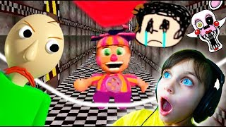АНИМАТРОНИКИ против БАЛДИ FNaF Mod Ultimate Night In Baldi s Basics ФНАФ Валеришка Для детей kids