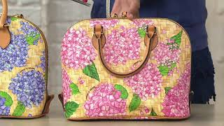 Dooney & Bourke Hydrangea Basket Weave Zip Zip Satchel Handbag on QVC
