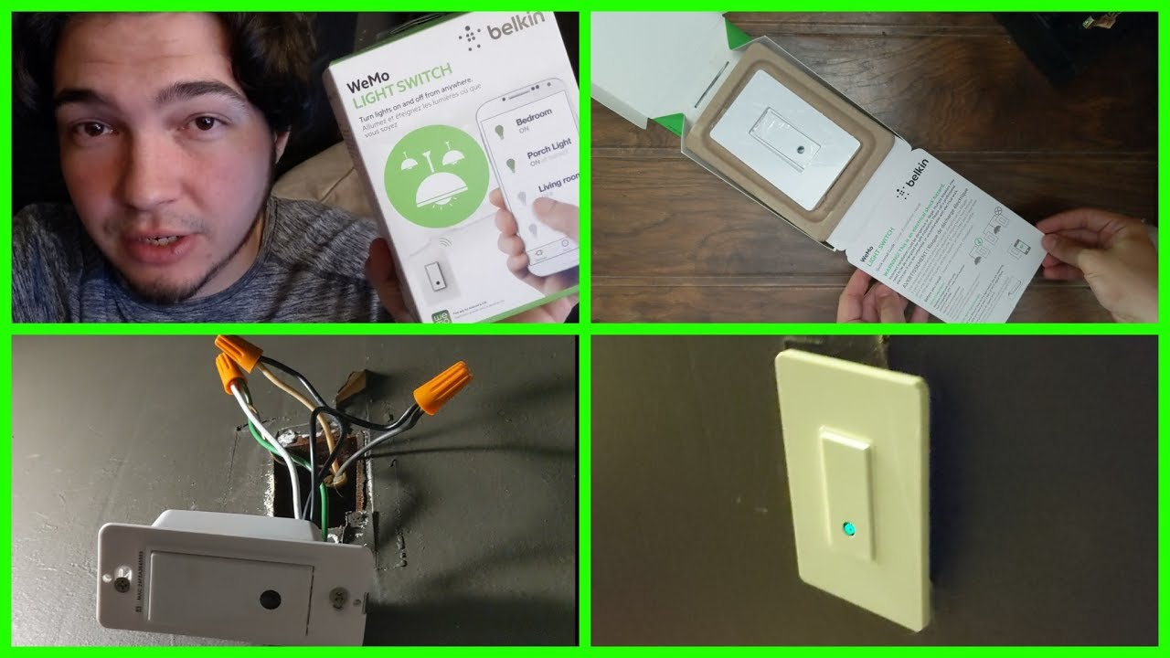 Belkin Wemo Smart Light Switch Setup Review Without Neutral Wire Youtube