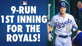 The Kansas City Royals erupt for 9 runs in the 1st inning!