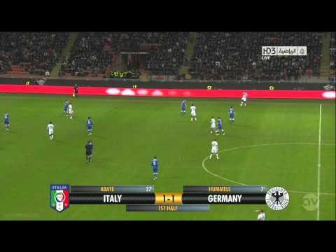 Ignazio Abate Amazing Golazo Italy 1-1 Germany 15/11/2013 HD