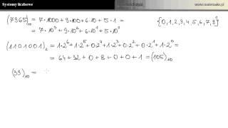 Systemy liczbowe - system dwójkowy, trójkowy i szesnastkowy
