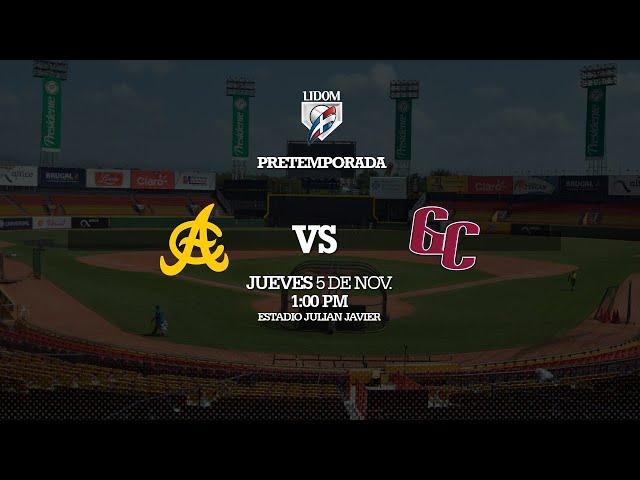 Pre-Temporada: Águilas Cibaeñas vs Gigantes del Cibao 05/11/2020