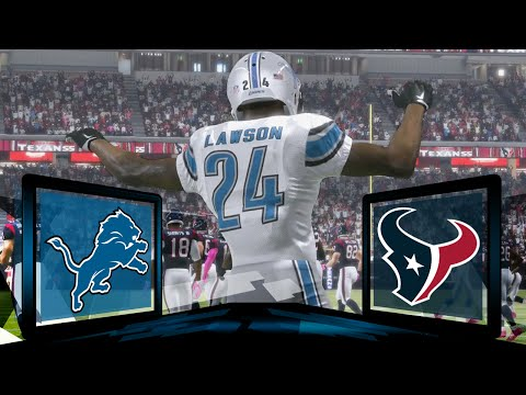 Madden NFL 17 Detroit Lions Franchise- Year 1 Game 8 at Houston Texans