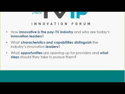 Pay-TV Innovation Forum webinar 2016 - afternoon session