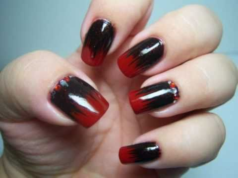 Sexy Dark Nails-Halloween Design - Sexy Dark Nails-Halloween Design - YouTube