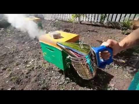 Работа электрического дымаря