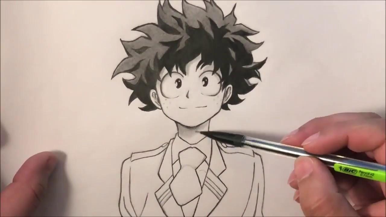 pics How To Draw My Hero Academia Characters Deku drawing deku boku no hero academia