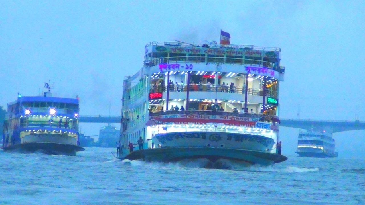 সুন্দরবন ১০ এর সাথে এম ভি ভোলার গতি যুদ্ধ দেখুন।।Exclusive Launch Competition Sundarban 10
