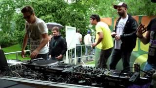 Juicy Beats 2012: Julian Ganzer, Philipp Schwingeler, Prinz Pi