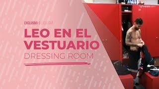 Así se prepara Messi en el vestuario para su rutina de entrenamiento
